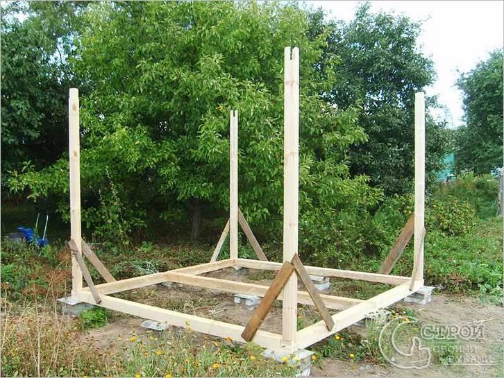 Строительство на столбчатом фундаменте