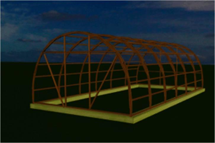 Схема арочной теплицы