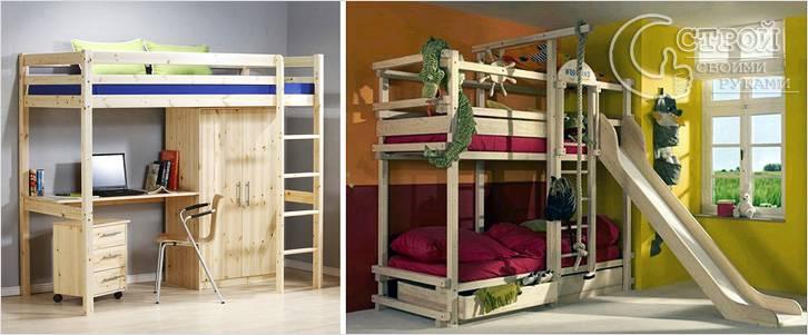 Конструкции кроватей-чердаков