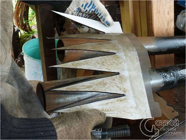Процесс изготовления винтовой сваи