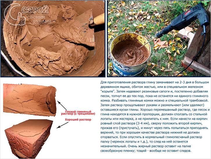 Рецепт приготовления глиняного раствора