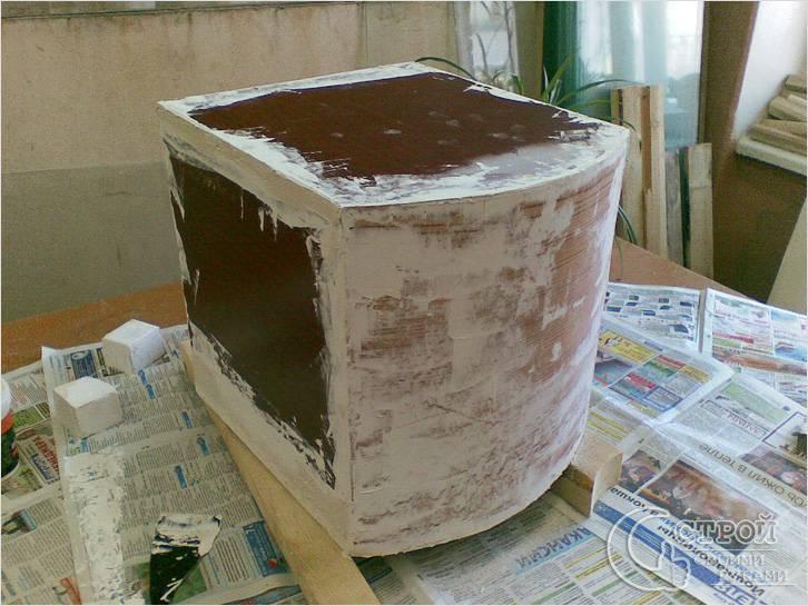 Восстановление мебели шпаклевкой