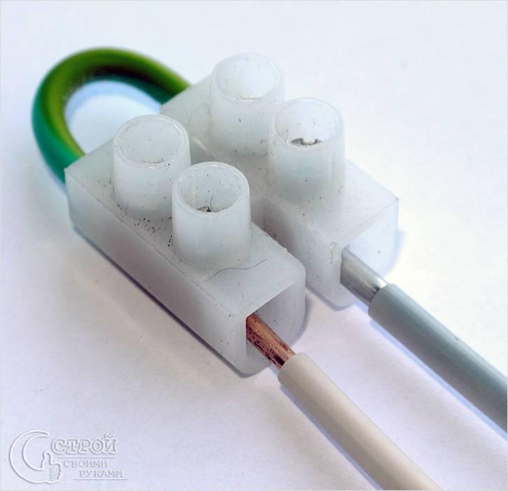 Клемма для соединения медного и алюминиевого провода в случае необходимости