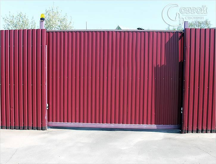 Готовые консольные откатные ворота