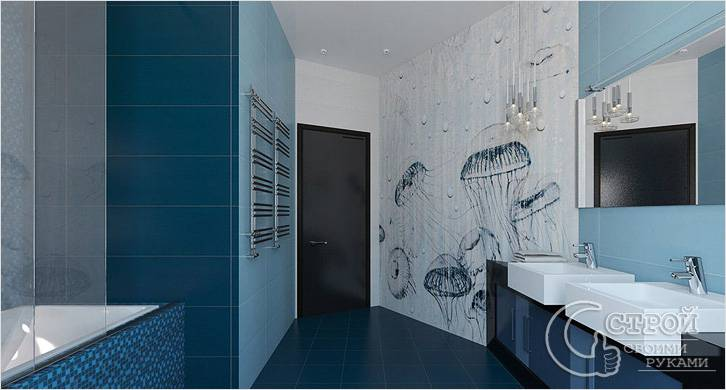 Рисунки медуз на стене