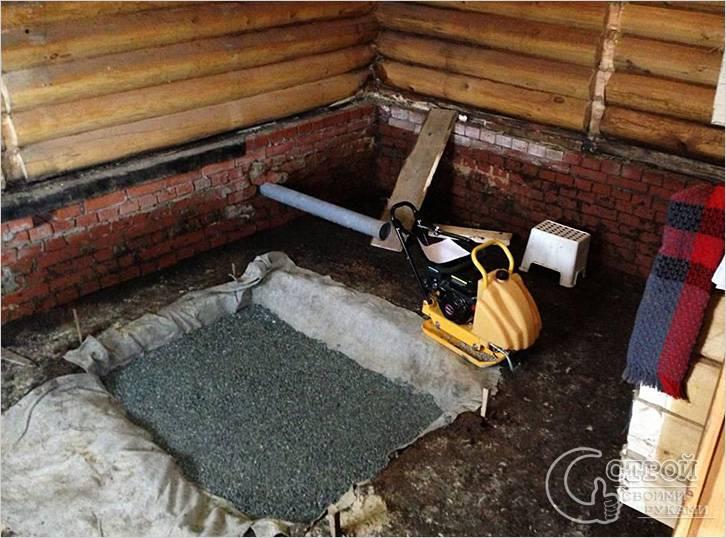 Фундамент под массивную железную печь
