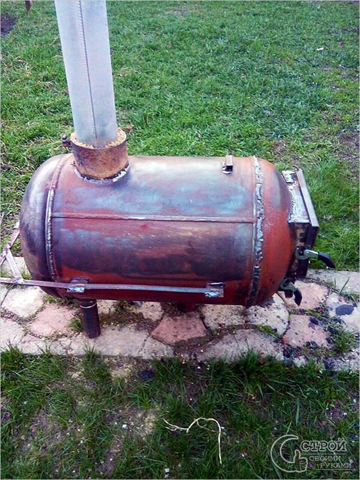 Печь для бани из газового баллона