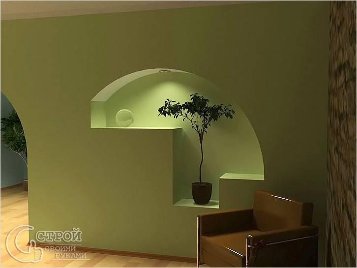 Фигурная ниша в стене