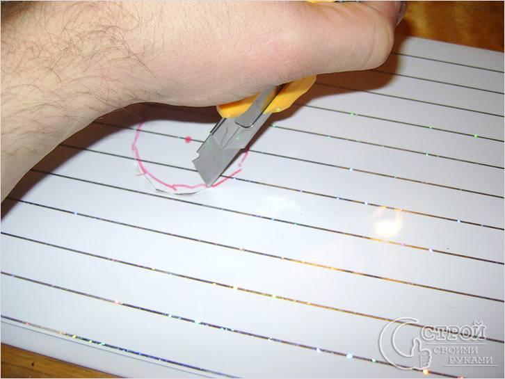 Как вырезать отверстие в панели