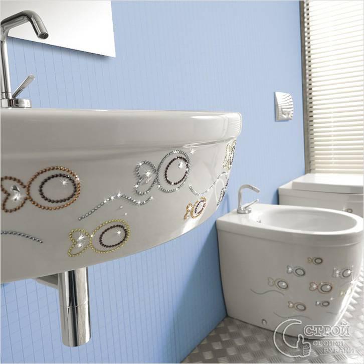 Наклейки для ванной комнаты