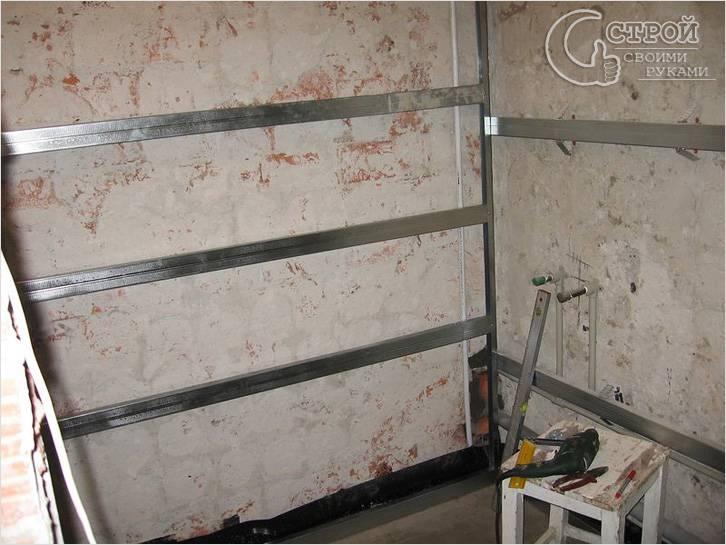 Обрешетка для панелей на стенах