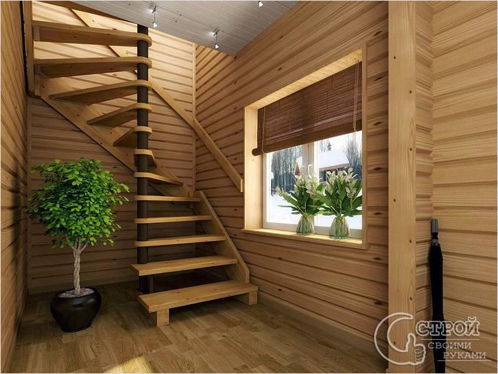 Поворотная лестница на оси