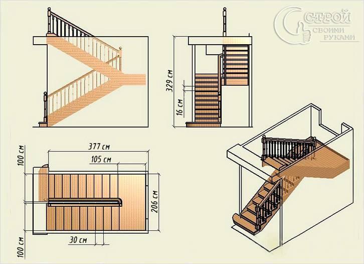 Проект лестницы чертеж