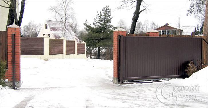 Требования к конструкции откатных ворот
