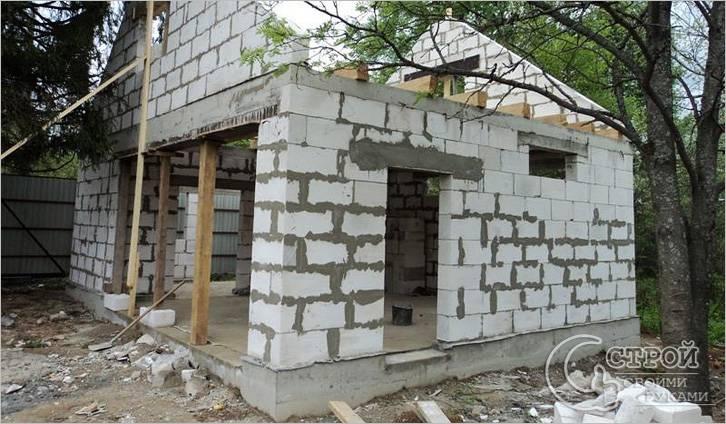 Строительство гаража примыкающего к дому