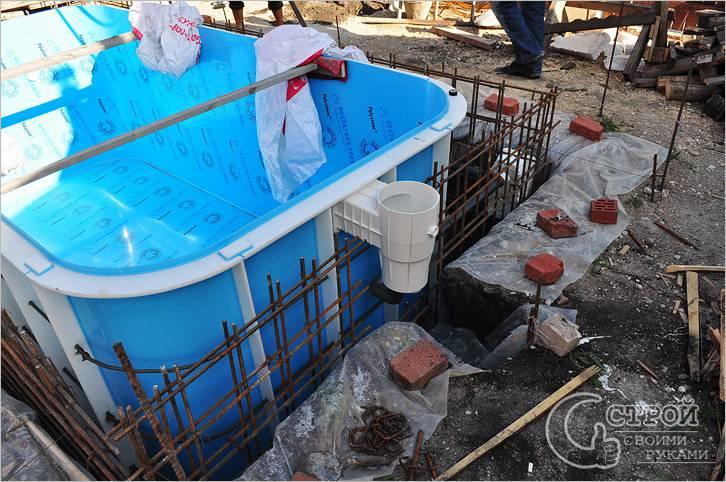 Полипропиленовая чаша — бетонирование