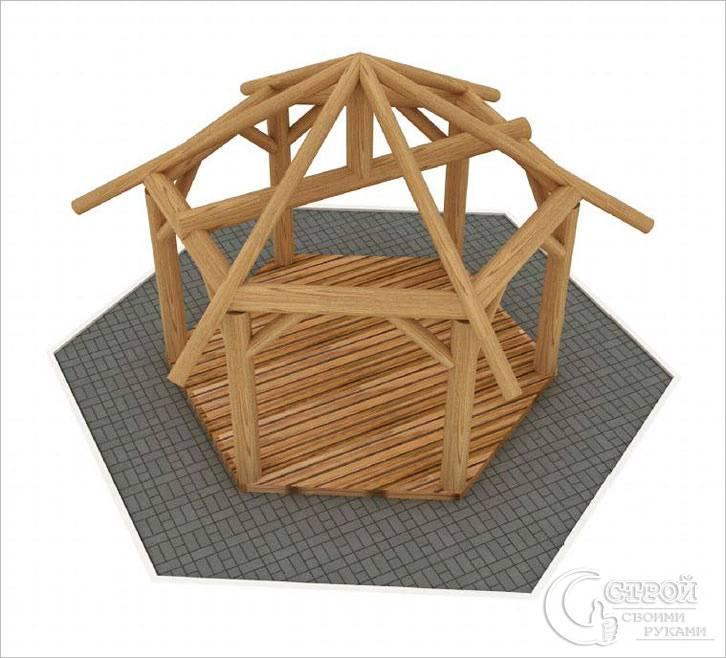 Схема каркаса шестиугольной