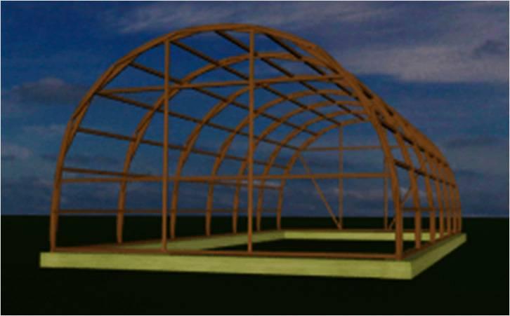 Готовая конструкция теплицы арочной формы