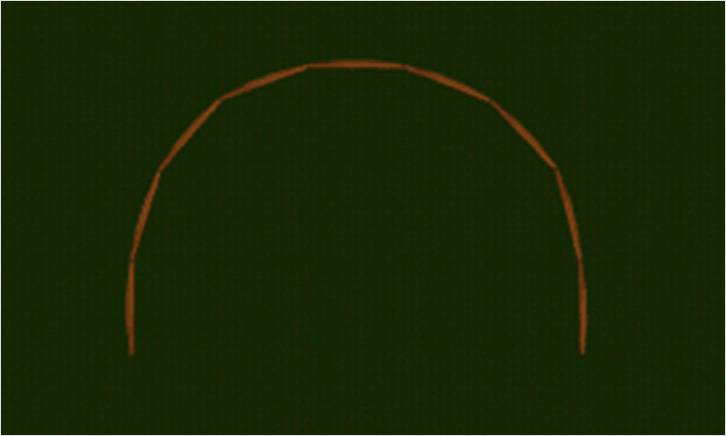 Собранная арка для теплицы