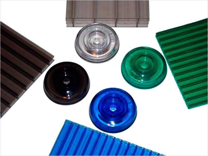 Термошайбы для крепления поликарбоната можно подобрать по цвету