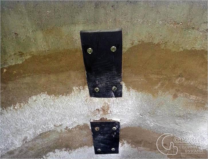 Сцепленные бетонные кольца в единое целое