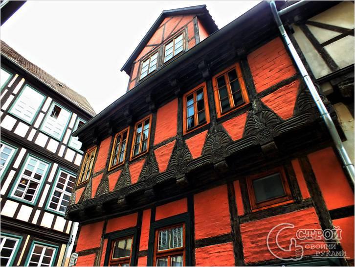 Аутентичный фасад в стиле фахверк в Германии