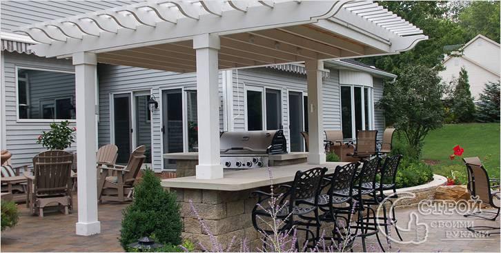 Дизайнерская летняя кухня на даче