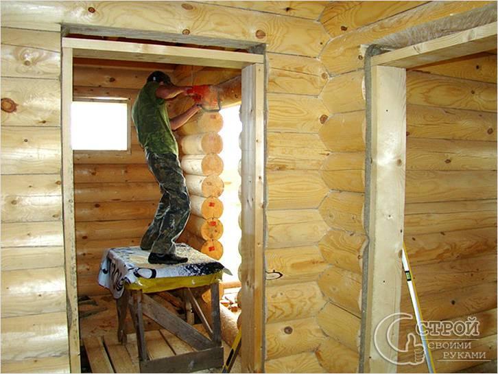 Как сделать дверной проём в деревянном доме 160