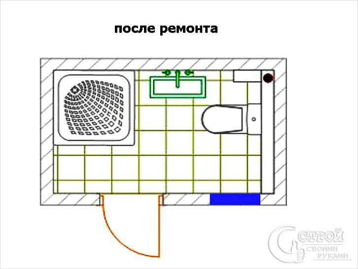 Перепланировка ванной комнаты и санузла