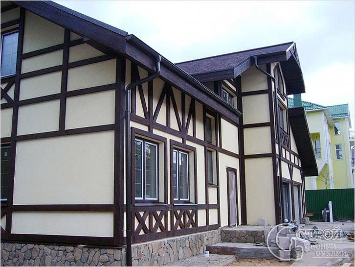 Фасад фахверк фото