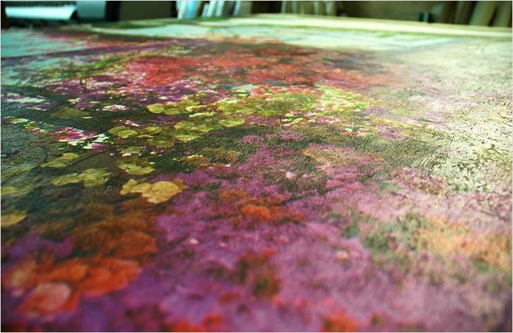Фотообои с текстурой штукатурки выглядят как настоящая фреска