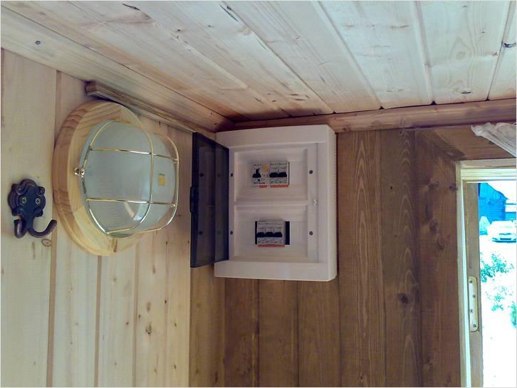 Электрический щиток в бане