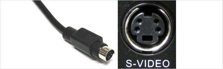 Вывод кабеля и разъем для подключения сигналов S-видео