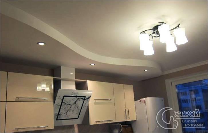 Можно сделать гипсокартонный потолок