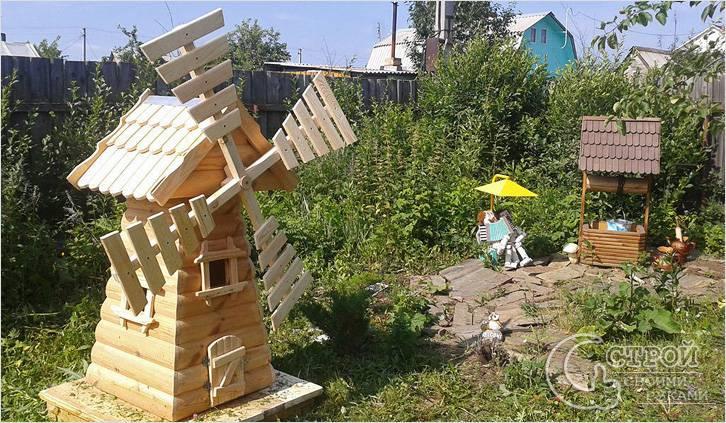 Декоративная мельница для сада своими руками чертежи фото 614