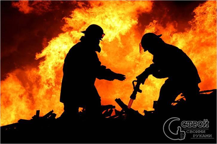 Огнестойкость зависит от материалов и конструкции