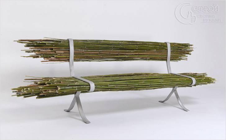 Бамбуковая скамья