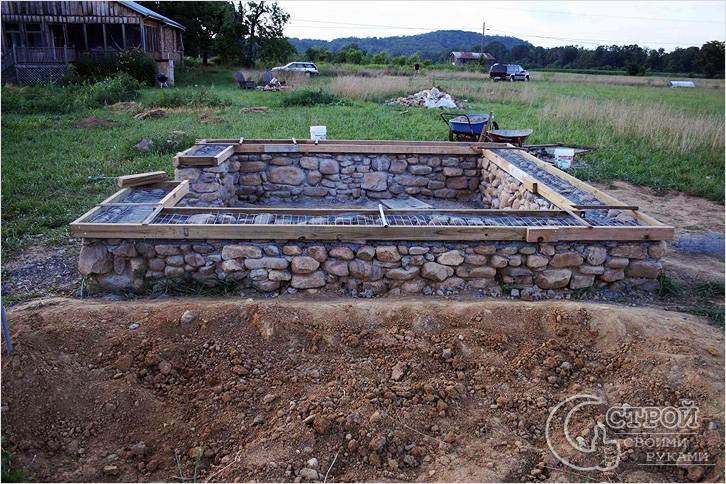 Фундамент из камня в современном строительстве