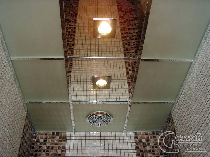 Кассетный потолок из зеркал