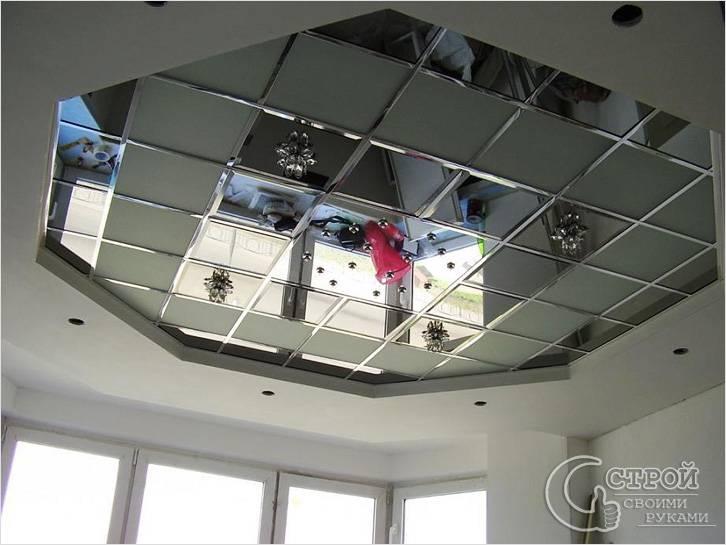 Подвесной потолок из зеркал