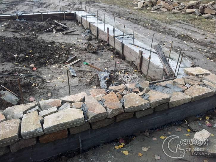 Природный камень в строительстве ленточного фундамента