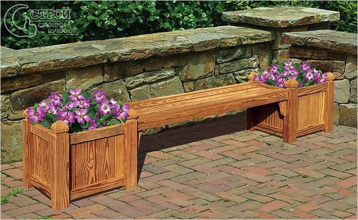 Садовая скамейка-цветник