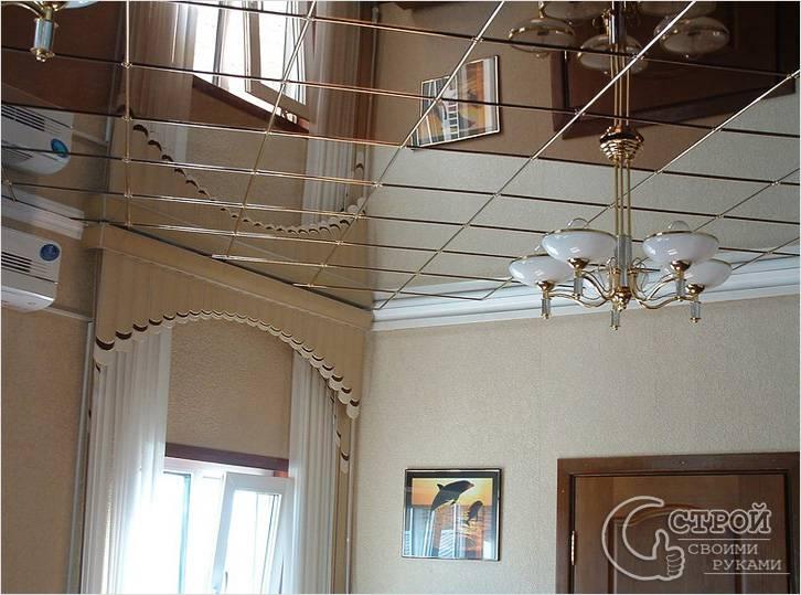 Такой потолок увеличивает помещение
