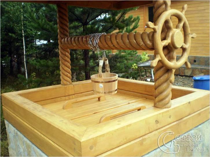 Декор колодезных домиков