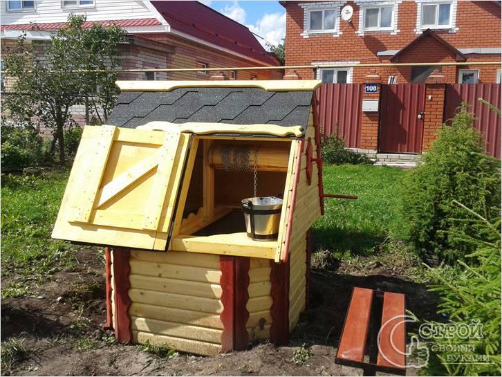 Сделать домик на колодец