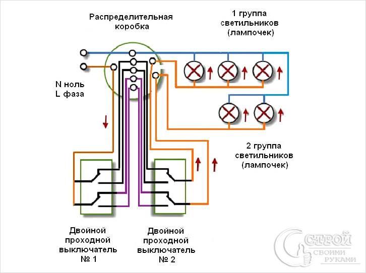 Схема для двухклавишных