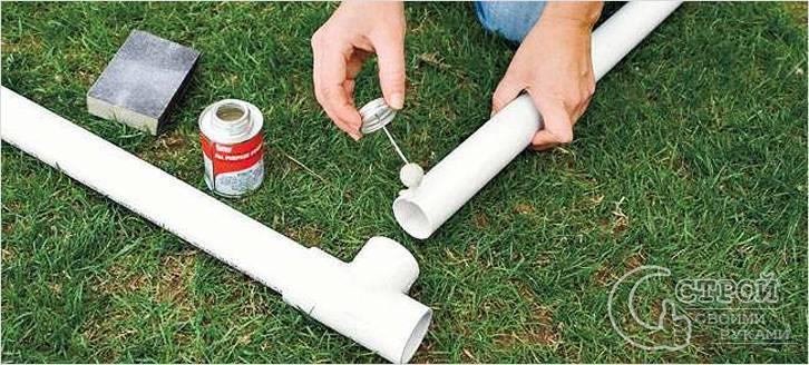 Монтаж ПВХ водопровода