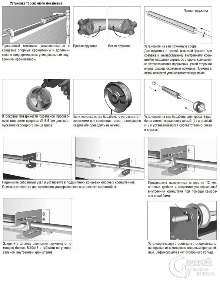 Монтаж торсионного механизма
