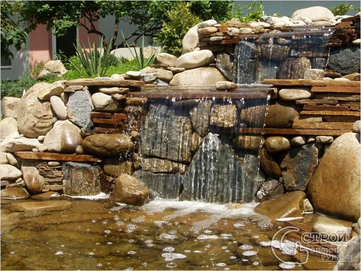 Водопад по камню своими руками