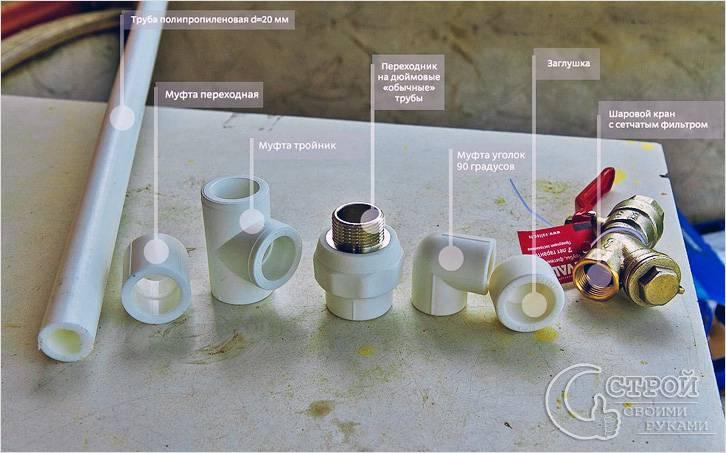 Водопровод из полипропилена на дачном участке